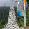 water sculpture at the entrance to Osa Mountain Village Resort